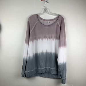 Maurices Tie Dyed Ombe Pink Grey Sweatshirt XL